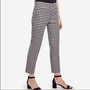 Ann Taylor size 10 NWOT Navy gingham crop pants